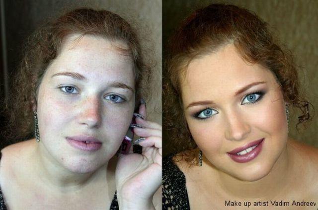 makyaj sonrası değişim