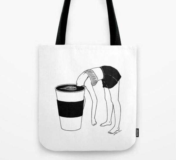 kahve baskılı çanta