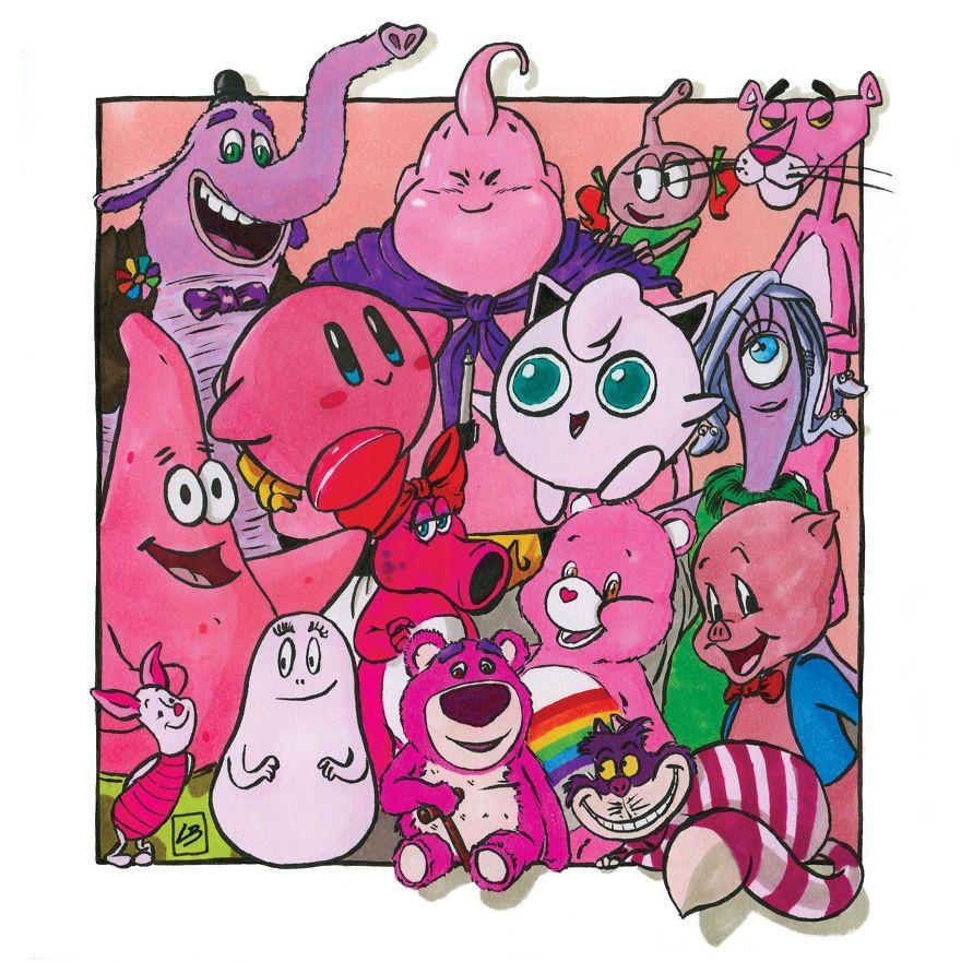 pembe çizgi film karakterleri