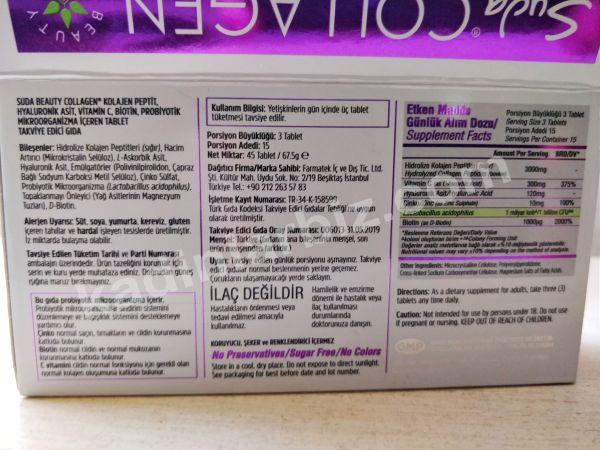 suda collagen içeriği kolajen tablet