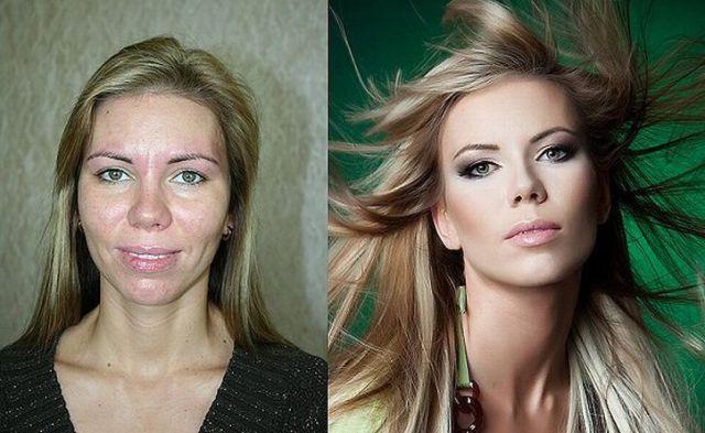 makyaj öncesi ve sonrası değişim