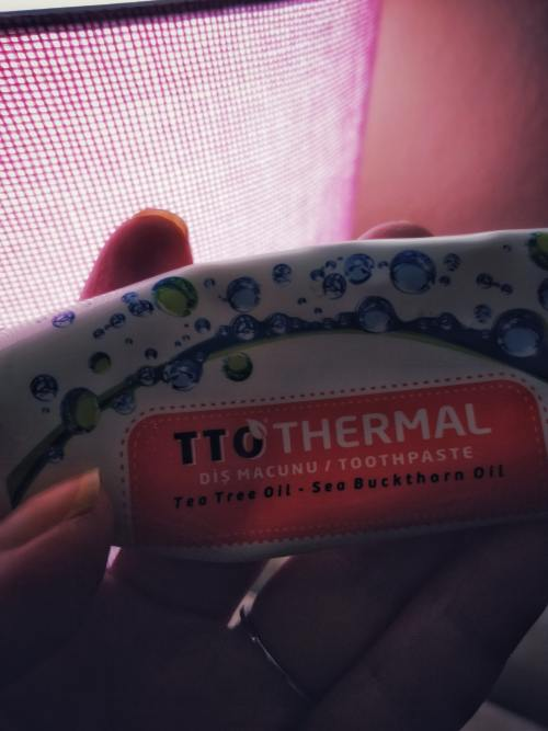 tto thermal çay ağacı organik diş macunu